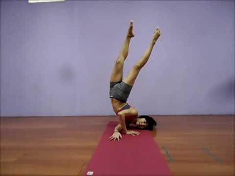 tripsichore yoga shoulder stand variation  youtube