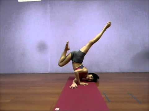 tripsichore yoga shoulder stand variation  youtube
