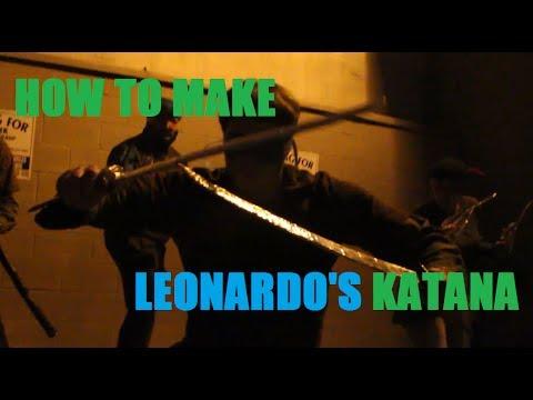 How to make TMNT Weapons - Leonardo's Katana