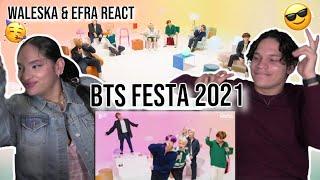 BTS FESTA is here!!!✨  Waleska & Efra react to BTS [2021…