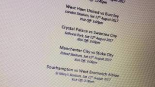 LEAKED! 2017/2018 Premier League season  fixture list FM17