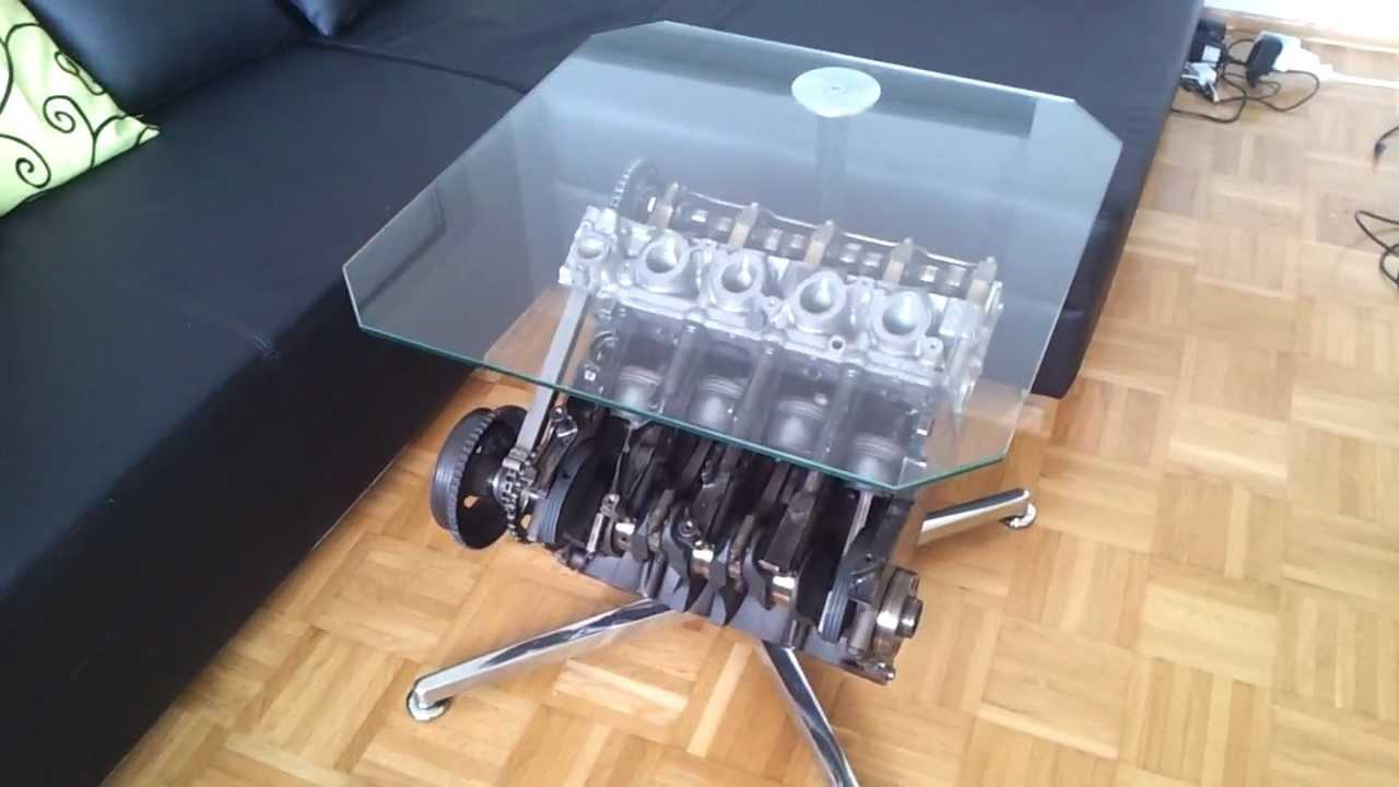 Motorblock als Tisch  Funktionsmodell BMW motor  YouTube