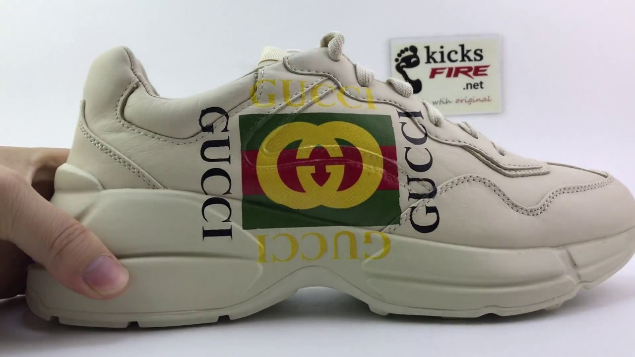 488ae0c22ad3 Gucci Rhyton leather sneaker 498916A9L009522 From Kicksfire.net ...