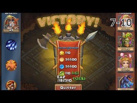 Castle Clash - Insane Dungeon 7-6 To 7-10