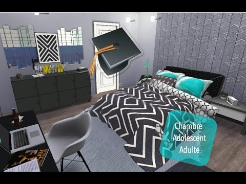 sims 4 chambre adolescent adulte youtube. Black Bedroom Furniture Sets. Home Design Ideas
