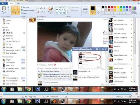 como tomar foto al chat de facebook