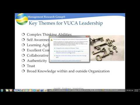 Webinar: Helping Leaders deal with Complexity and Ambiguity