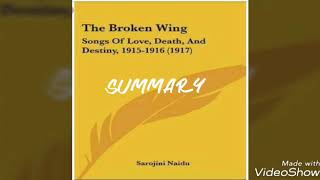 Broken wing by Sarojini Naidu - Summary
