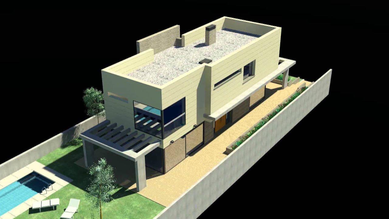 Vivienda unifamiliar 3d estudio cgd arquitectura youtube for Viviendas unifamiliares modernas