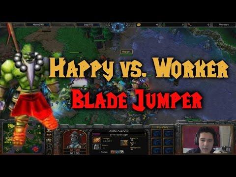 Warcraft 3 | Happy (UD) vs OrcWorker (OC) | BLADE JUMPER | Gera Cup 90 | Part 2/2