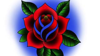 How To Draw A Traditional Rose Tattoo Step By Step Free Online