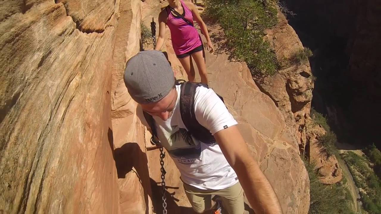 angels landing trail zion canyon youtube