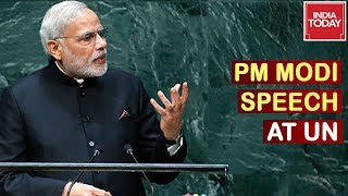 PM Modi Mega UN Address Live : PM Declares Schemes Adopted By India | Full Speech