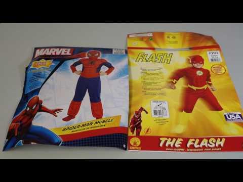 Spiderman & The Flash Costume Review - Jimmy & Jason  - V Kids TV
