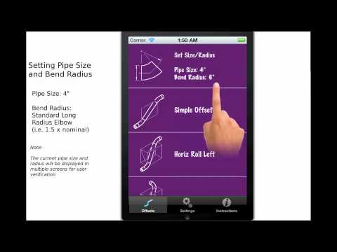 Piping Offset Calculator Set Pipe Size and Radius Tutorial