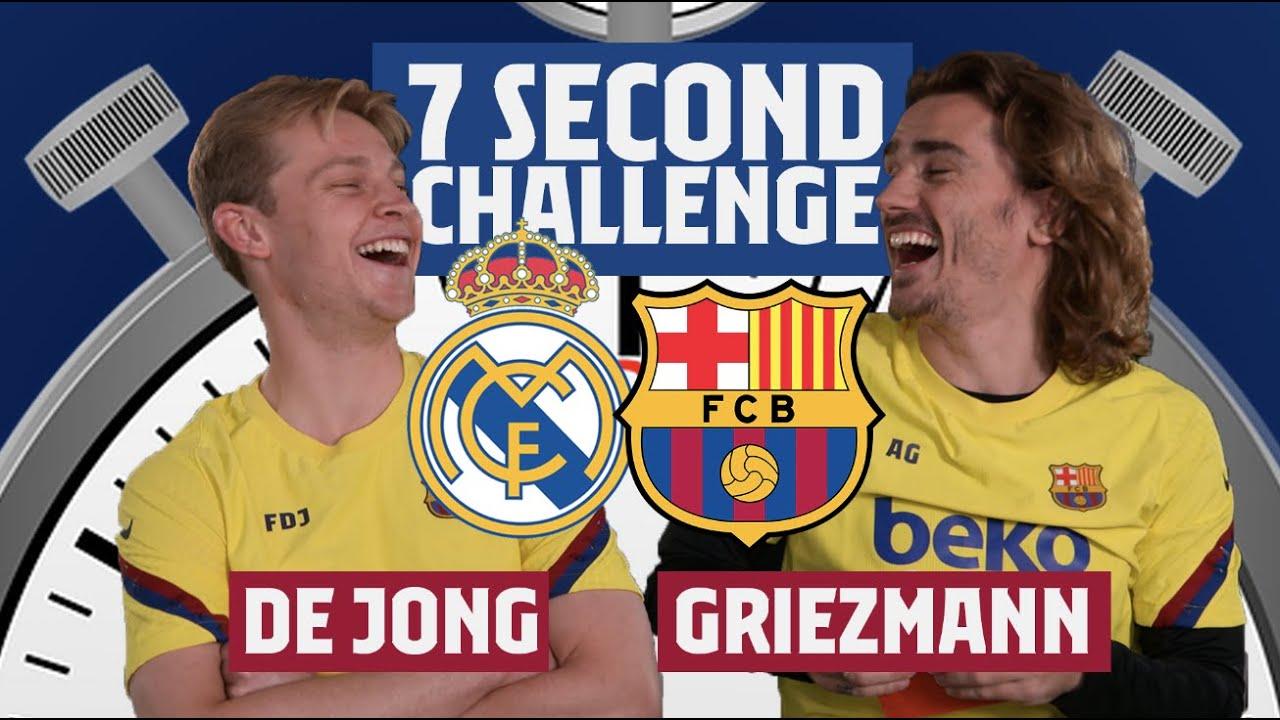 7 SECOND CHALLENGE EL CLÁSICO | Griezmann vs. De Jong