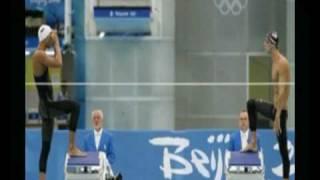 Michael Phelps vs. Milorad Cavic - 100m fly Beijing 2008