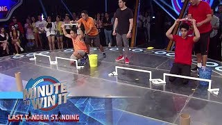 Sling-A-Pong | Minute To Win It - Last Tandem Standing