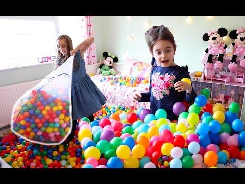 Balls in my Playarea Room-Fun Activities for Kids!