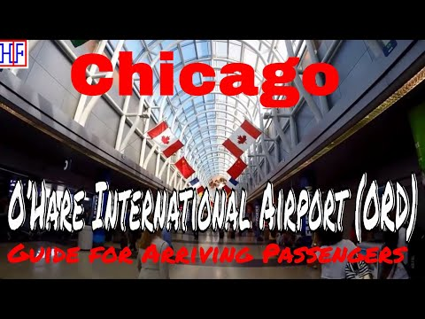 Chicago O'Hare International Airport (ORD) – Arrivals, Ground Transport and 'L' train to Downtown
