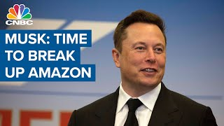 Tesla CEO Elon Musk calls Amazon a monopoly: 'Time to break up Amazon'
