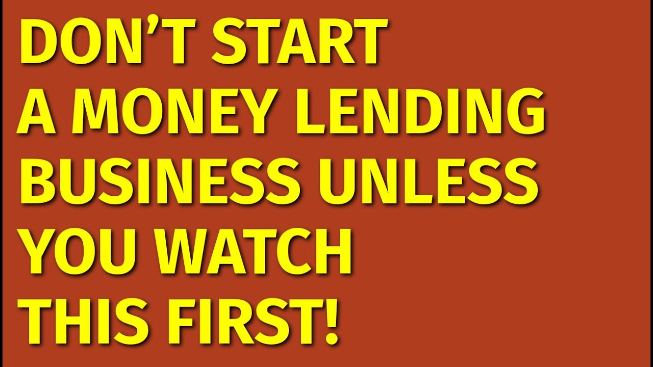 Download How to Start a Money Lending Business   Including Free Money Lending Business Plan Template