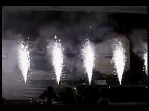 Choreographed Show Launch with pyrotechnics
