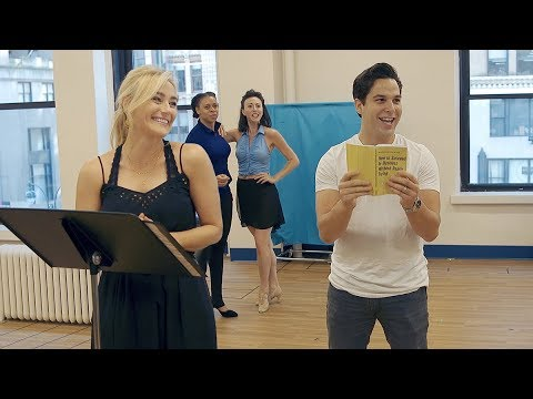 In Rehearsal With Skylar Astin, Betsy Wolfe, and the Cast of How to Succeed…