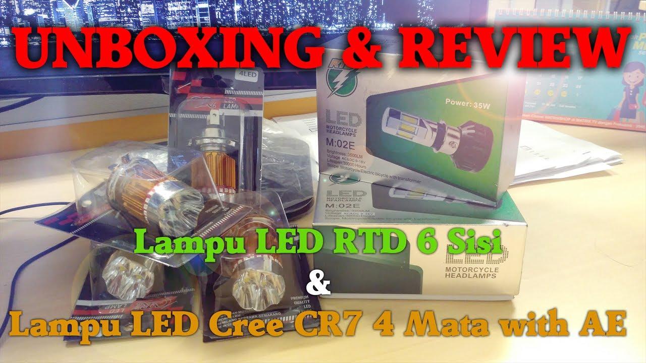 Unboxing Review Led Rtd 6 Sisi Cree 4 Mata Paket Bukalapak Hitsabizz Aiter Band