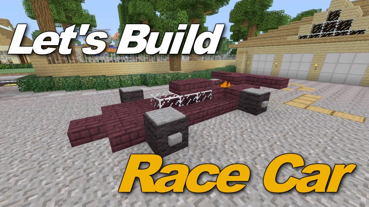 Minecraft Xbox Awesome Race Car Tutorial Youtube