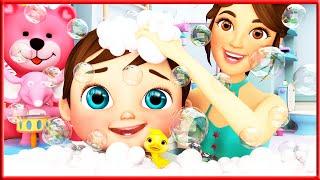 Baby Bath Song , Baby Shark Song  | Sign Language For Kids | Kids Cartoon | Banana Cartoon | ASL