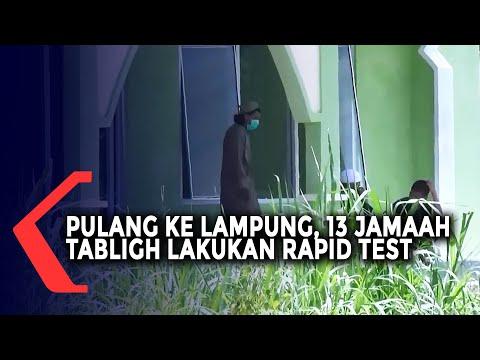 Sepulangnya ke Lampung, 13 Jamaah Tabligh Lakukan Rapid Test