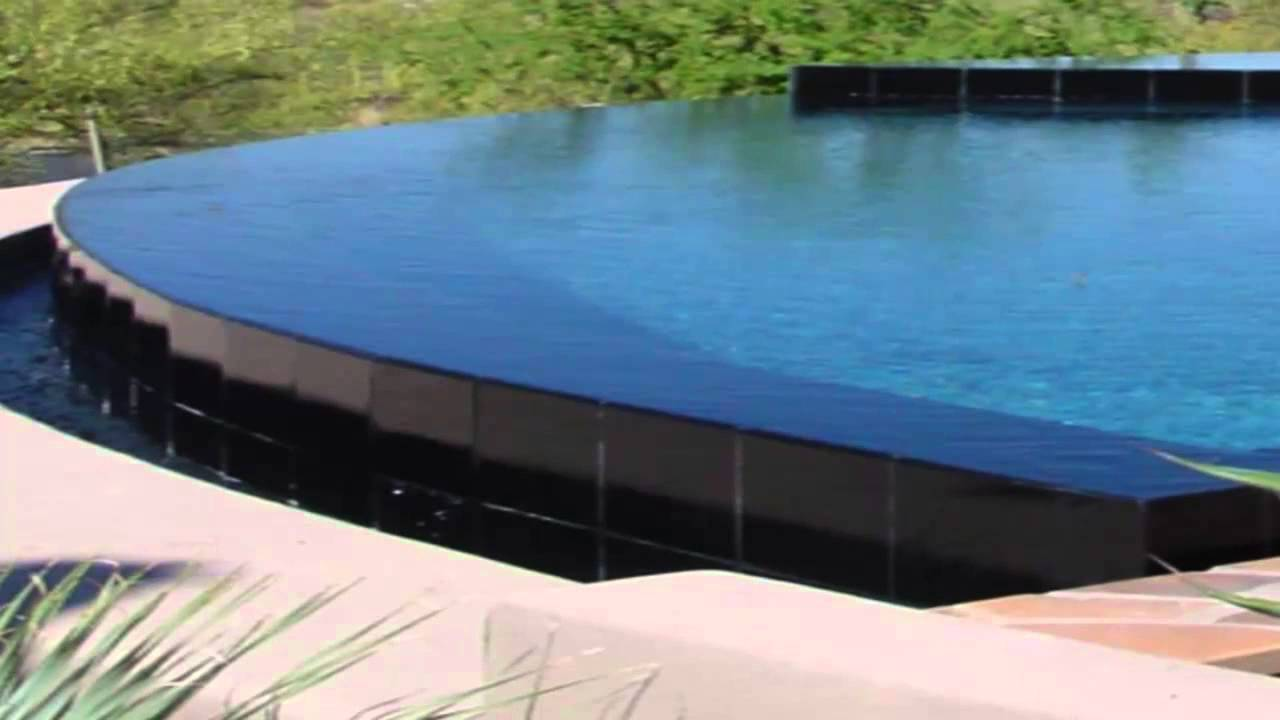 From grass to a vanishing edge pool tucson az youtube for Pool edges design