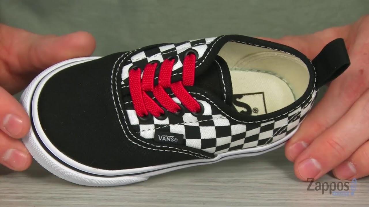 5de807a2b4 Vans Kids Authentic Elastic Lace (Infant Toddler) SKU  9074236 - YouTube