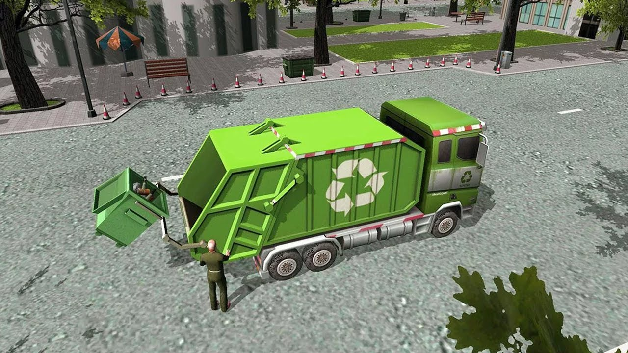 Junior Garbage Truck Parker By Awesome Kids Games