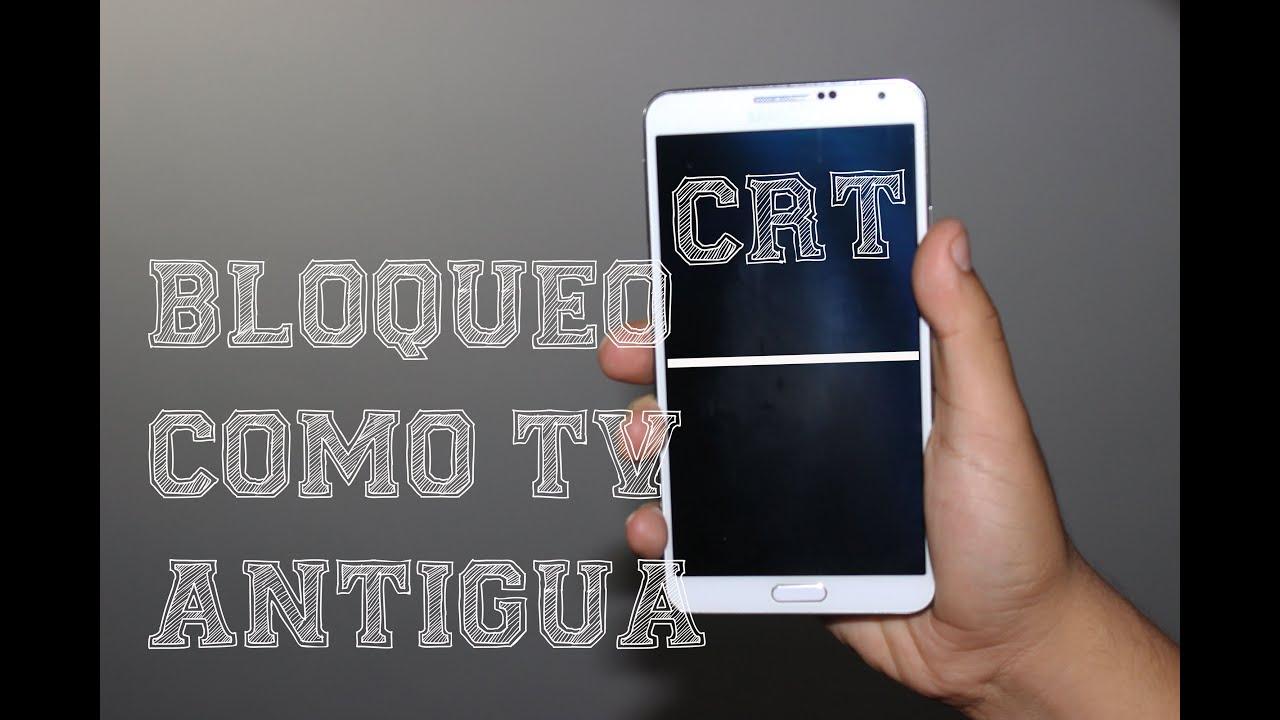 CRT Animation y 5 Animaciones | Bloquea tu dispositivo como Tv Antigua | Cualquier Android