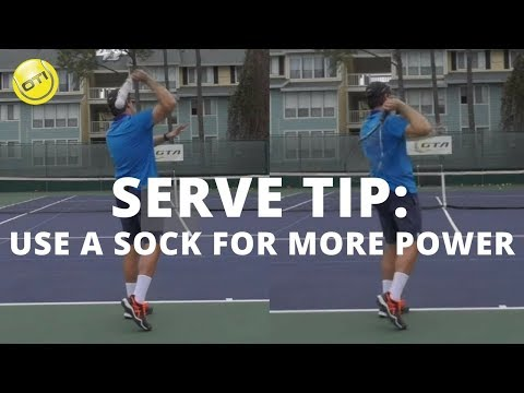 Tennis Serve Tip: Use The Sock For More SERVE POWER