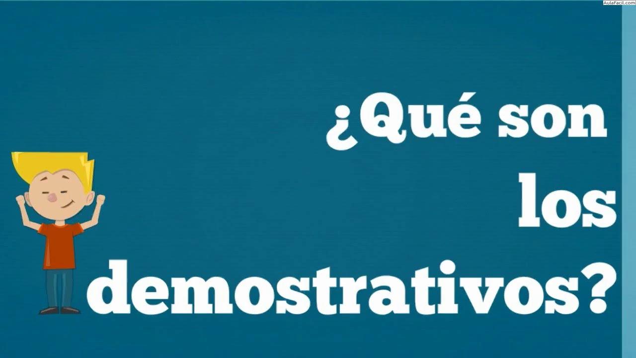 Los determinantes demostrativos/Lengua Tercero Primaria (8 años ...