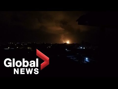 Israel launches air strikes on Gaza after rockets fired at Tel Aviv