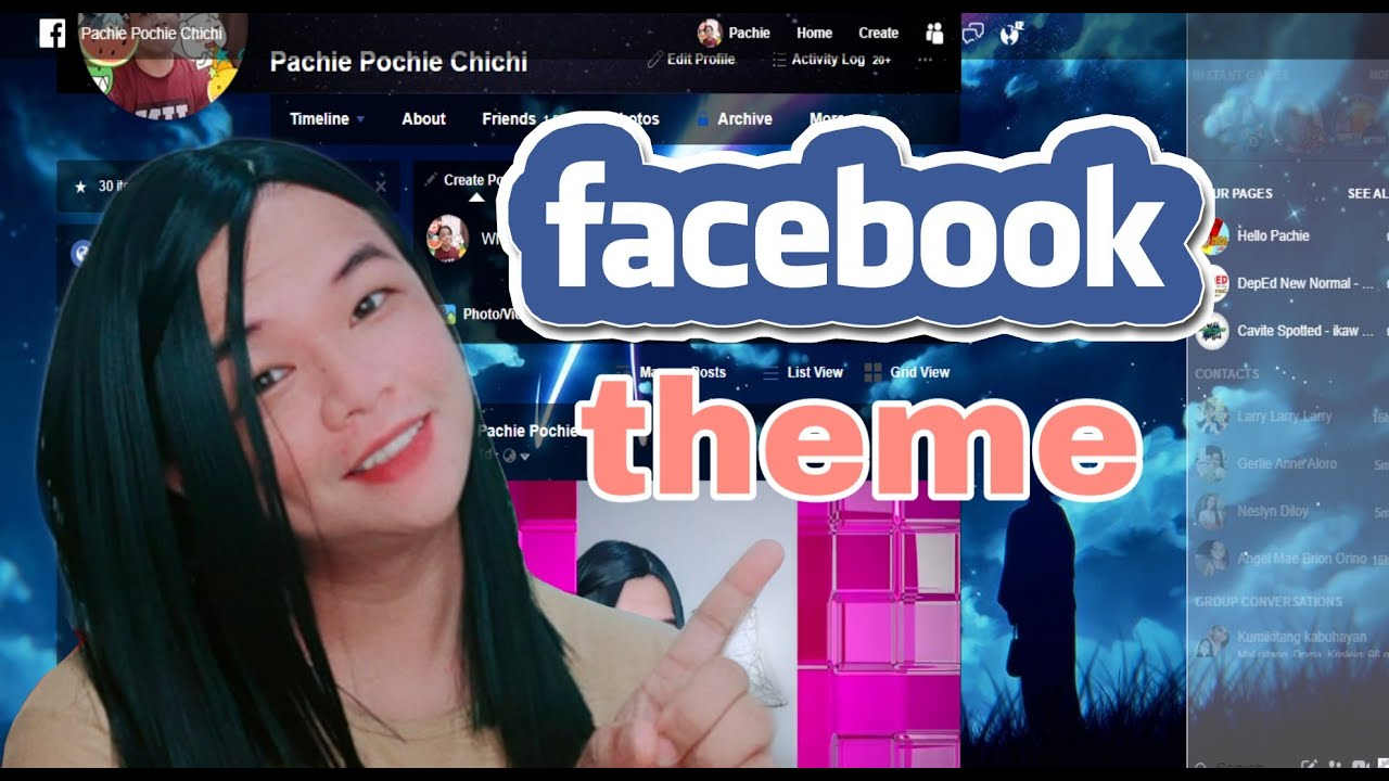 How to change Facebook theme on Google chrome (Extensions)