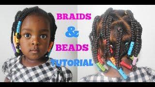 Toddler/Kid Hairstyle II Box Braids and Beads Tutorial ---/ neknatural