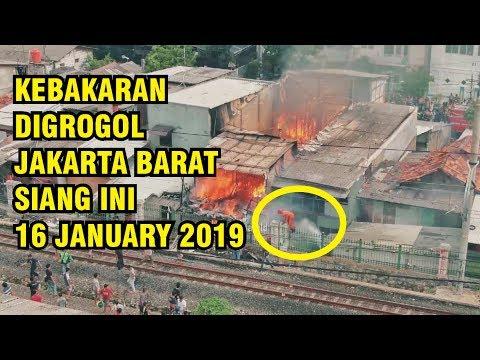 KEBAKARAN SIANG INI 16 JANUARI 2019 DI MAKALIWE 1 GROGOL JAKARTA BARAT