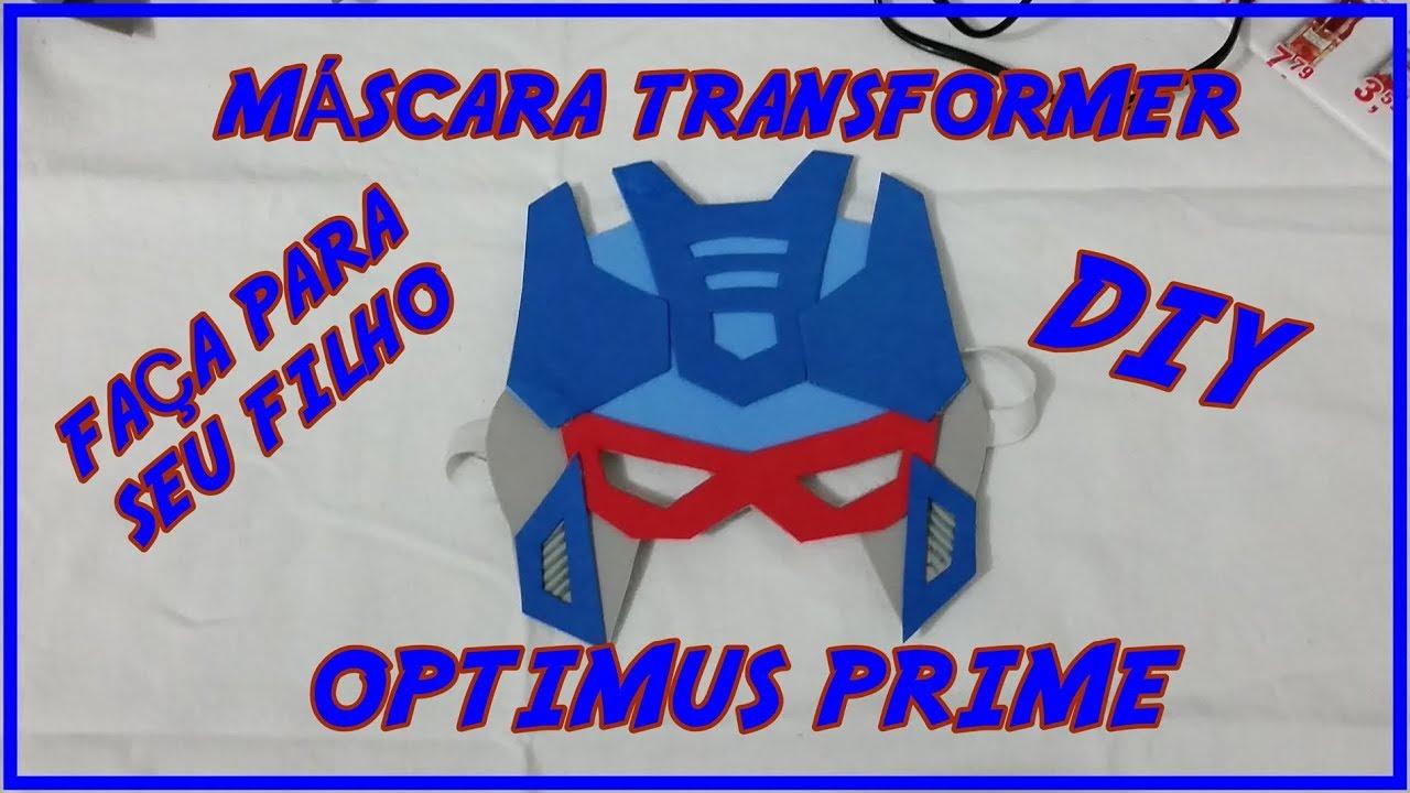 Imagenes Mascaras De Transformer: MASCARA TRANSFORMERS Optimus Prime DIY