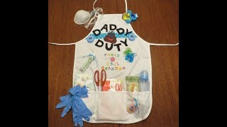 Tricia's Creation: Daddy Doodie Duty Apron Survival Kit
