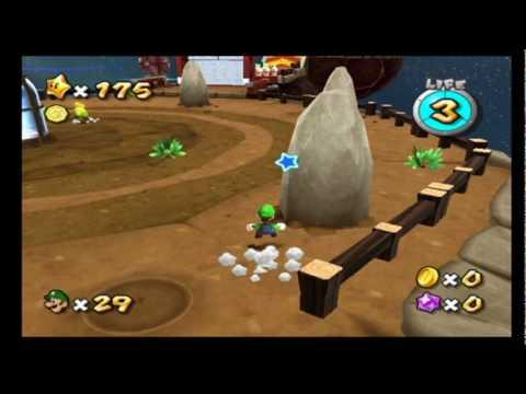 Super Mario Galaxy 2 Green Stars - Boulder Bowl Galaxy ...