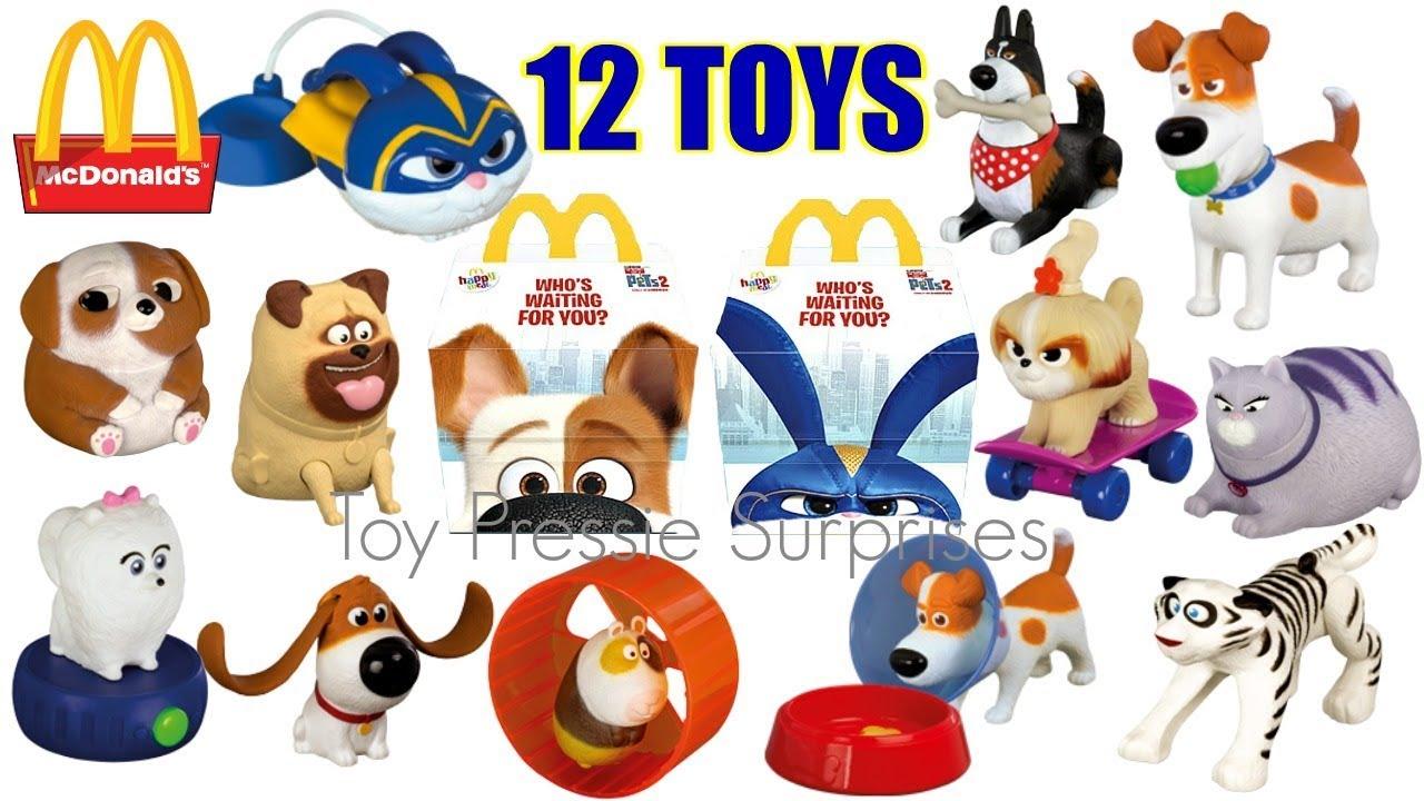 2019 Mcdonalds Secret Life Of Pets 2 Movie Happy Meal Toys