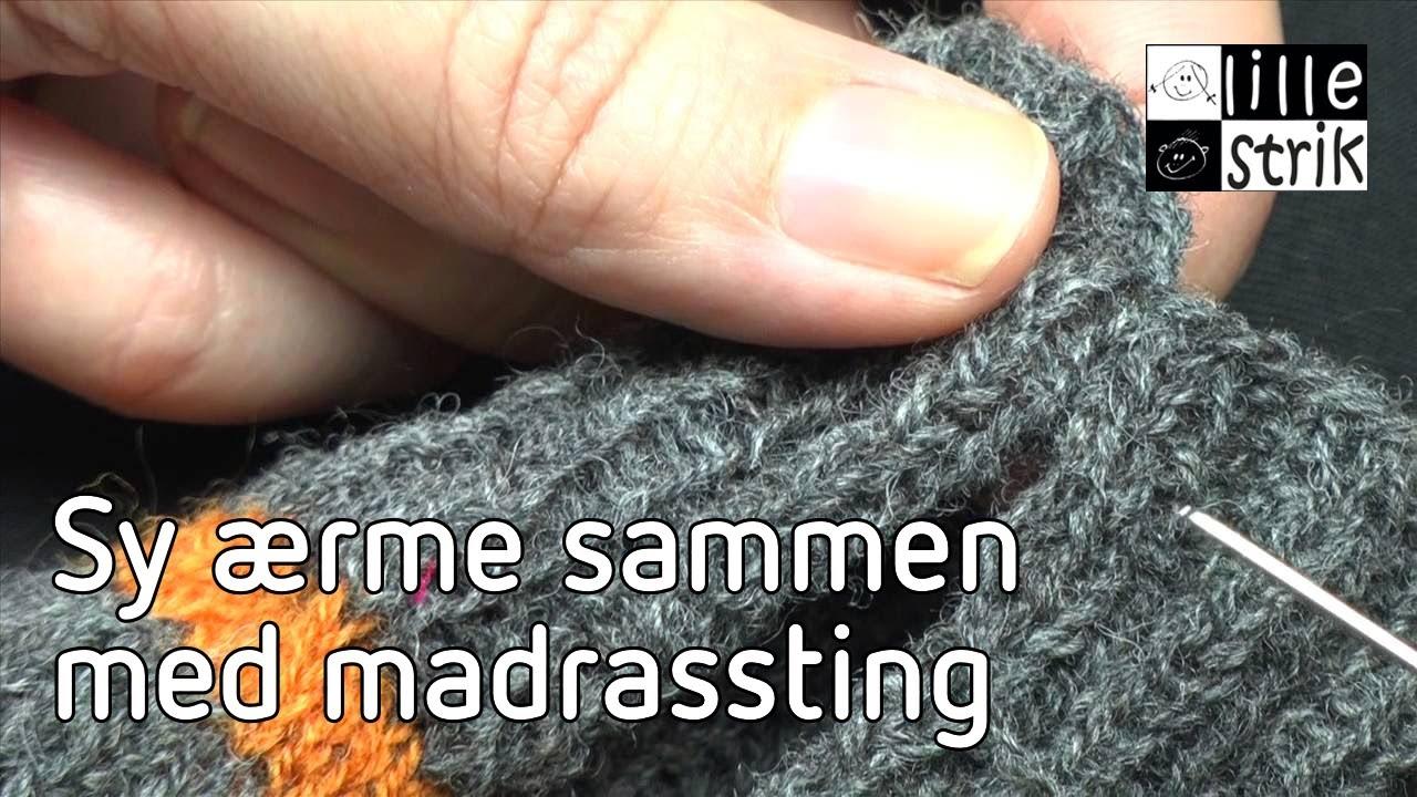 sammensyning af strikketøj