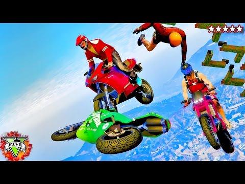 GTA 5 Moto Racing Rampage! - Epic GTA Stunts & Maps - Grand Theft Auto 5