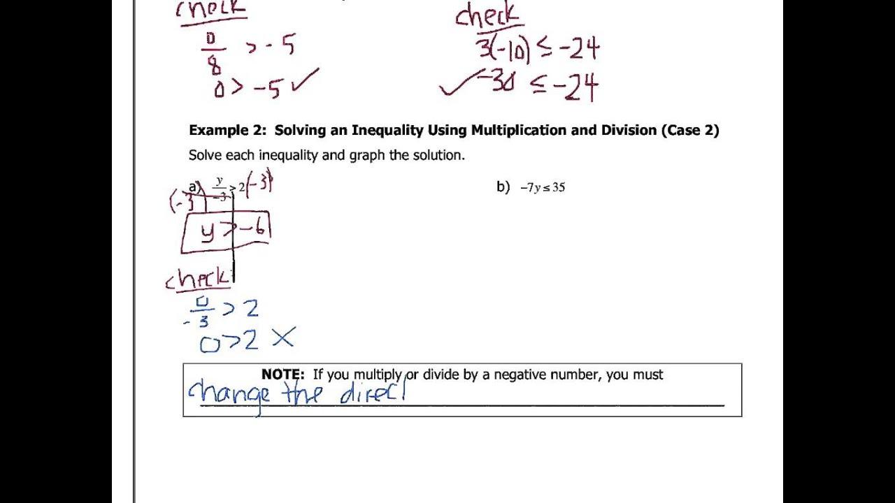 William james calhoun,: solving inequalities by using.
