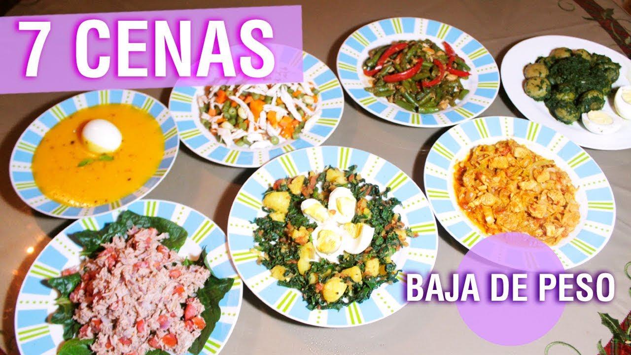 7 cenas saludables para toda la semana l baja de peso l for Cenas faciles y economicas